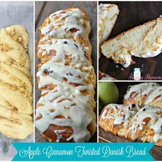 Apple Cinnamon Twisted Danish Bread.