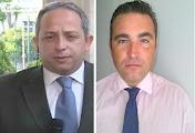 Photo: Χρήστος Κούτρας και Γιάννης Ντσούνος (Πιθηκάνθρωποι, Κρόνιοι-Nephilims, παρουσιαστές του προγράμματος «Αταίριαστοι» στον τηλεοπτικό σταθμό ΣΚΑΪ. Συνηθίζουν να καταγγέλλουν όποιον είναι ενάντια στη Νέα Δημοκρατία και στα σχέδιά της για νέα μέτρα εναντίον των Ελλήνων. Δεν έχουν αναφέρει ακόμη ότι η Νέα Δημοκρατία δωροδοκήθηκε με 232 δισεκατομμύρια ευρώ το 2009 από τους Γάλλους τραπεζίτες για να παραιτηθεί και να τα εισπράξουν οι Ιουδαίοι σαυράνθρωποι από τις επόμενες κυβερνήσεις και τον Ελληνικό λαό. Κάνουν λόγο για έλλειψη στοιχείων την ώρα που δεν υπάρχει λίστα επενδυτικών σχεδίων της ΝΔ-ΠΑΣΟΚ που να δικαιολογεί δαπάνες με ποσά 400 δις ευρώ υπέρ των κυβερνόντων κομμάτων 2008-2016, 100 δις ευρώ υπέρ της Γερμανίας, 300 δις ευρώ υπέρ της ανακεφαλαιοποίησης των τραπεζών, αφαίμαξη καταθέσεων ασφαλιστικών ταμείων, 900 δις ευρώ καταθέσεις Ελλήνων στο εξωτερικό, μείωση του Ελληνικού ΑΕΠ στο 1/2 κ.λπ.