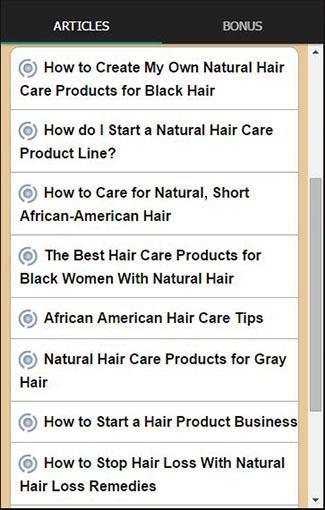 玩免費健康APP|下載天然护发秘诀自然的发型技巧的内容得到这个应用 app不用錢|硬是要APP