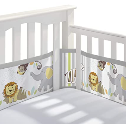 BreathableBaby Breathable Mesh Crib Liner - great alternative to normal crib bumper