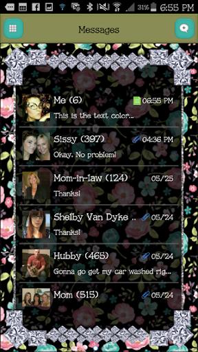 GO SMS - DivineDiamonds3