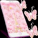 Pink Paris Tower Theme Kitty Icon pack icon