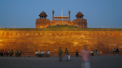 Photo: Red Fort at dusk
