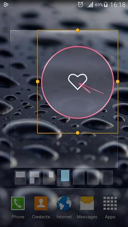 Pink Love Clock Widget 5.5.1 screenshot 1568923