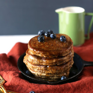 SPICED WHOLE WHEAT VEGAN PANCAKES