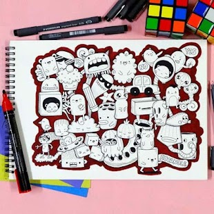 Learn to Draw a Colored Doodle - náhled