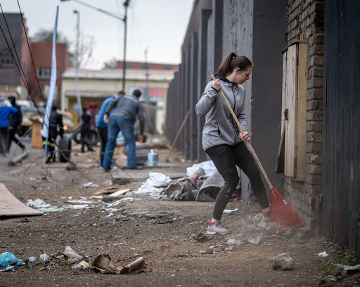 Good Samaritans clean up after xenophobic attacks in Gauteng