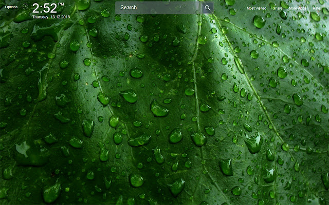 Water Drop Wallpapers Theme New Tab