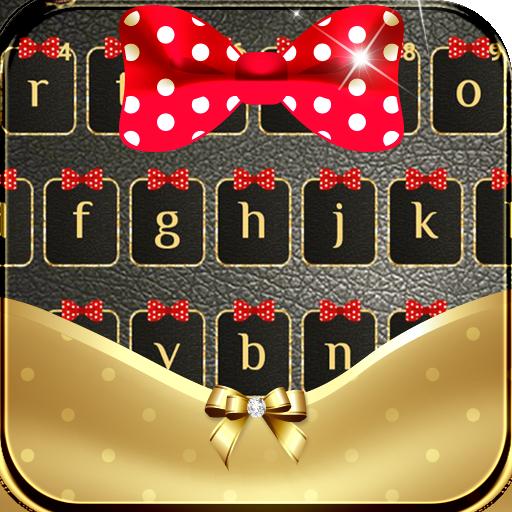 Gold Bowknot Keyboard Theme