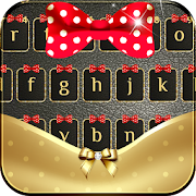 Gold Bowknot Keyboard Theme