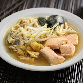 Japanese Salmon Noodle Soup.