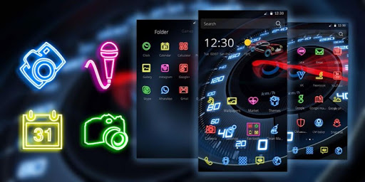 免費下載遊戲APP|Neon Speedometer Car Theme app開箱文|APP開箱王