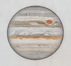 Photo: Jupiter le 29 janvier 2014, entre 20h30TU (partie haute) et 22h00TU (partie basse). Seeing excellent. T406 à 470X en bino.