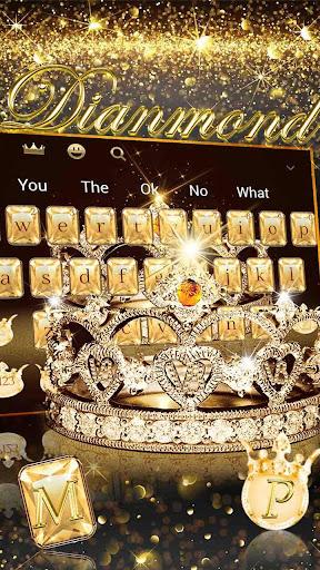 Gold diamond crown Keyboard Theme 10001012 screenshots 8