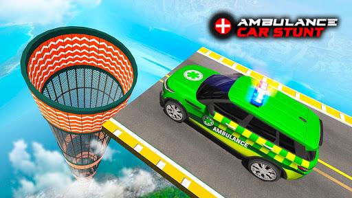 Ambulance Car Stunts: Mega Ramp Stunt Car Games 2.1 screenshots 1