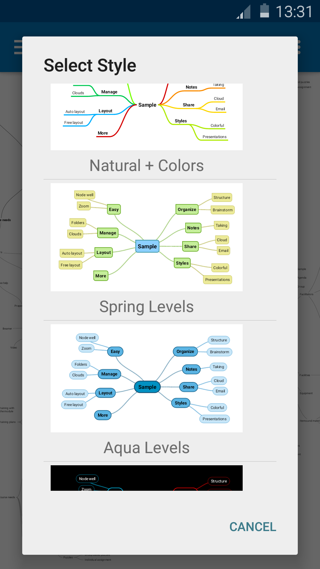 SimpleMind Free mind mapping screenshot #5