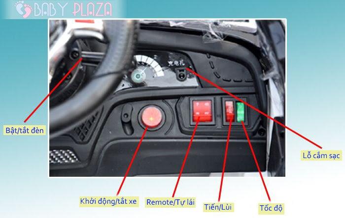 Ô tô điện trẻ em SX-1528 4 cửa mở 18