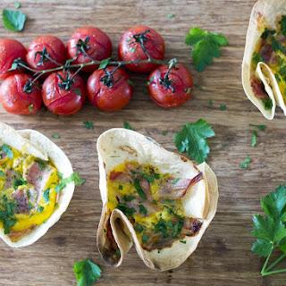 Pancetta, Ricotta, Kale & Spinach Brunch Tortillas.