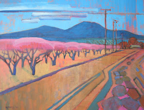Photo: Orchard and Diablo, acrylic on canvas by Nancy Roberts, copyright 2014. Private collection.