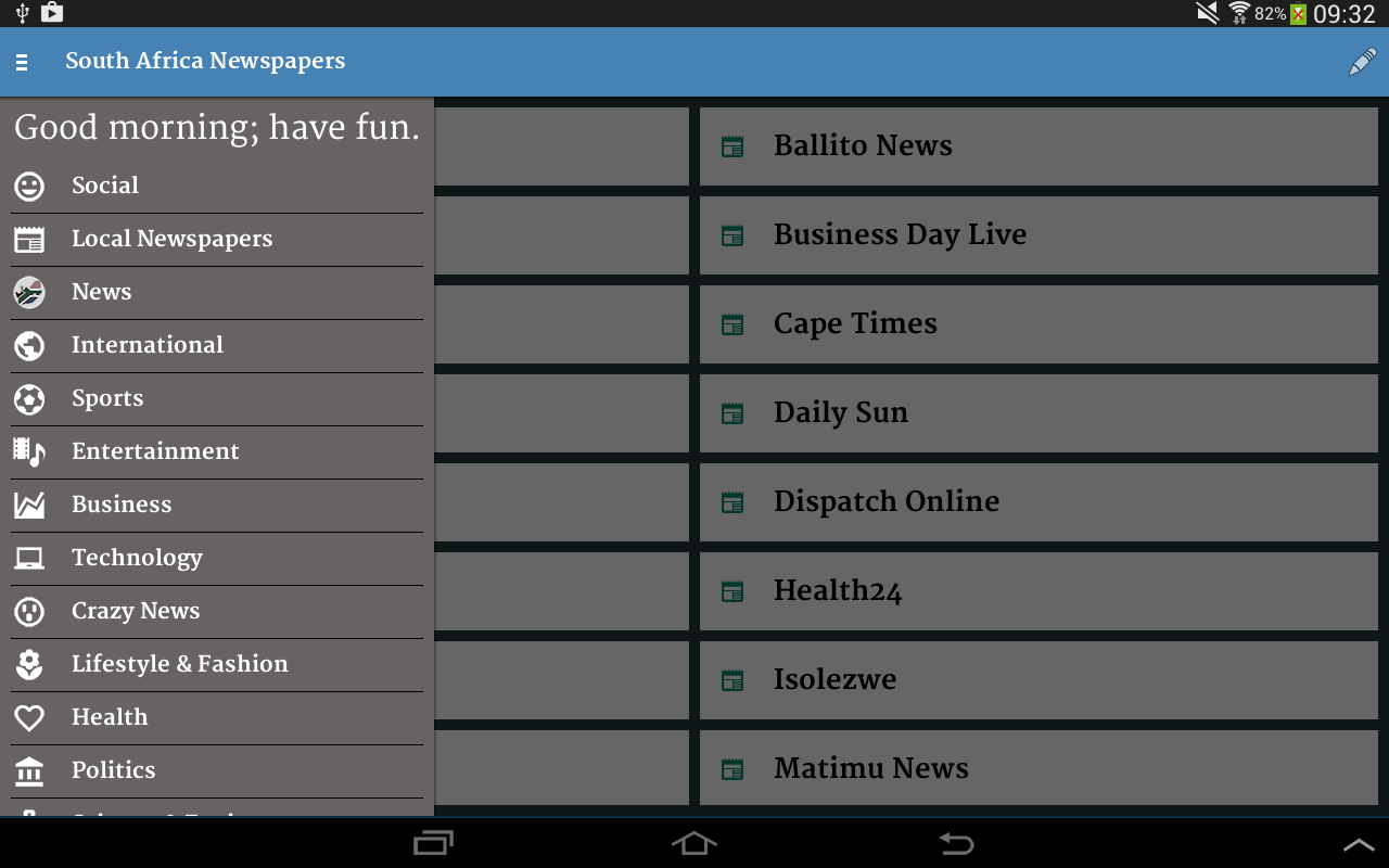 South Africa Newspapers- screenshot