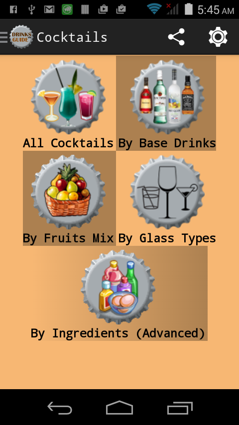 Drinks Guide™ Cocktail Recipes- screenshot