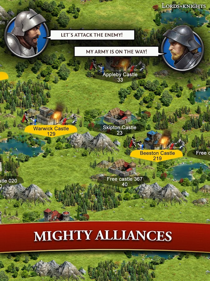 Lords & Knights - Medieval Strategy MMO- screenshot