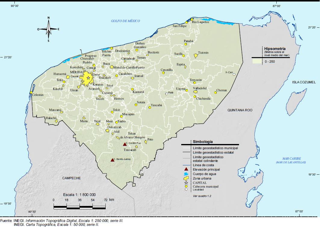 topografía de yucatán