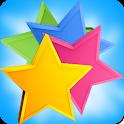 match 3 stars icon
