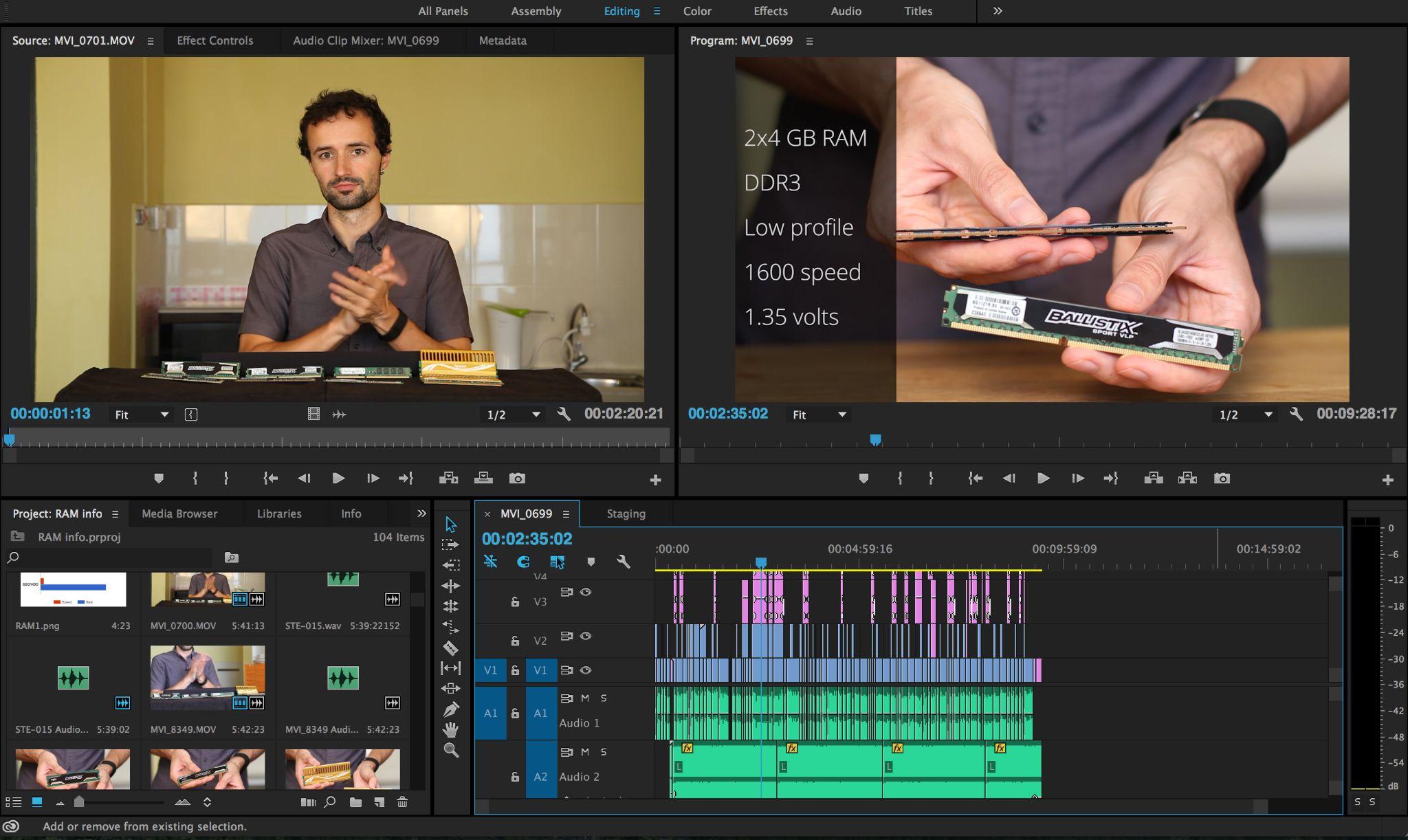 Làm video editing