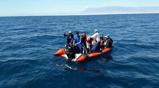 Imagen de archivo de una patera rescatada.