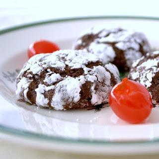 Chocolate Cherry Crinkles