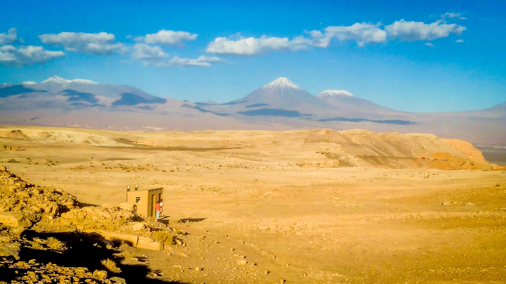 volcanoes as seen from the atacama desert in Chile south america