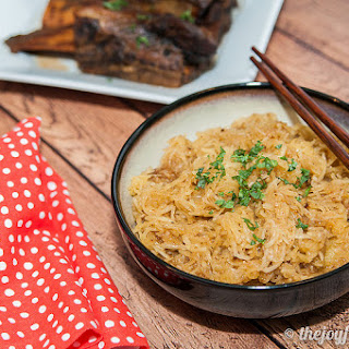 Spaghetti Squash Garlic Noodles