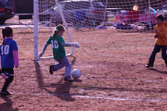 Photo: World Cup, Nov. 7--You can't stop her, you can only hope to contain her. Winnie scores 3 times (or was it 4?)!