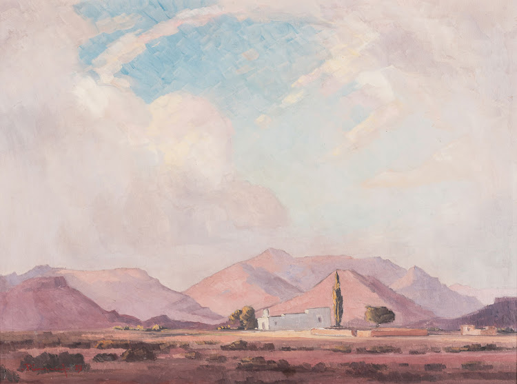A work by Jacob Hendrik Pierneef that went on auction October 2018.