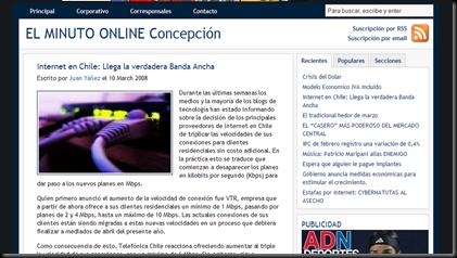 Diario El Minuto - Concepción - Chile Internet en Chile- Llega la verdadera Banda Ancha_1205699925477