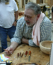 Photo: Mike Blake - tropical wood tool handles for finishing file, modeling tools, slotted nut driver, and scratch awl
