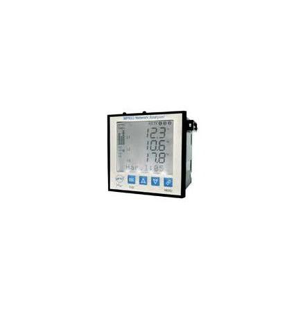 Nätverksanalysator 3-fas, LCD, THD ström-spänning, minne