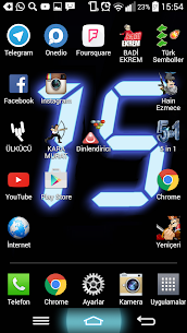 Digital Clock Wallpaper 1 [Mod + APK] Android 1