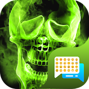 Green Fire Emoji SMS Theme