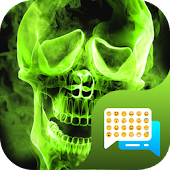 Green Fire Emoji SMS Theme