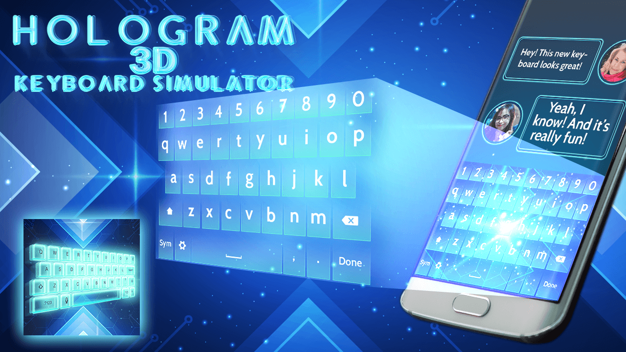 hologram 3d keyboard simulator screenshot