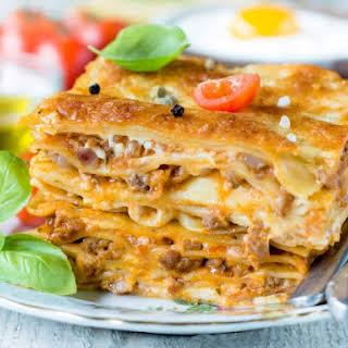 Ground Turkey Lasagna With White Sauce Recipes.
