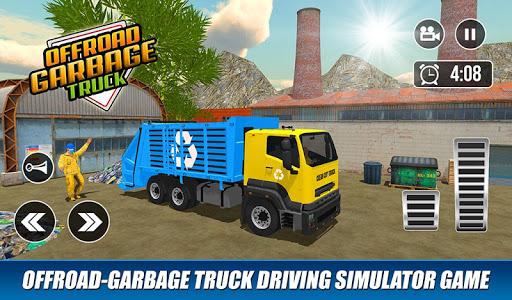 Offroad Garbage Truck: Dump Truck Driving Games apktram screenshots 5