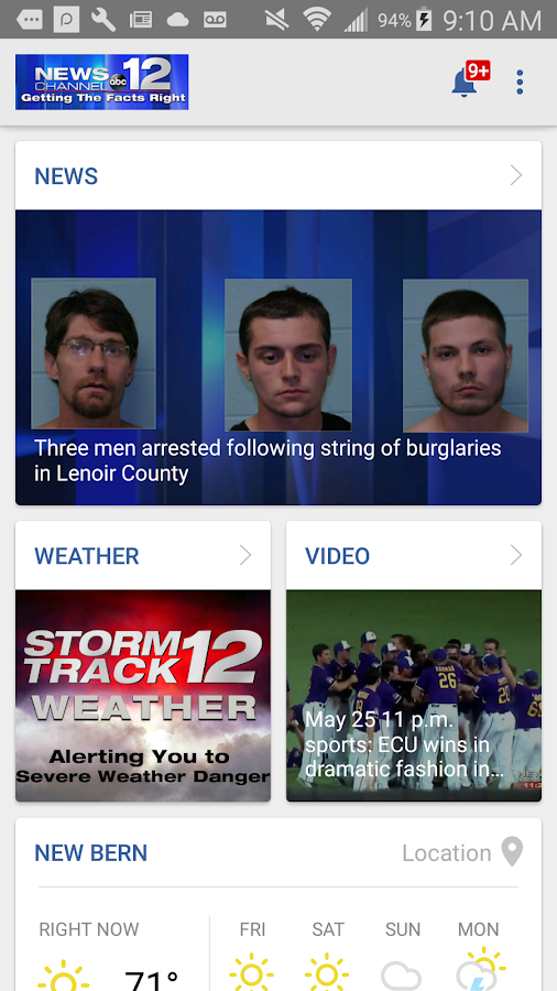 WCTI News Channel 12- screenshot
