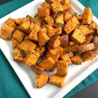 Vegan and Gluten-Free Dijon Roasted Sweet Potatoes
