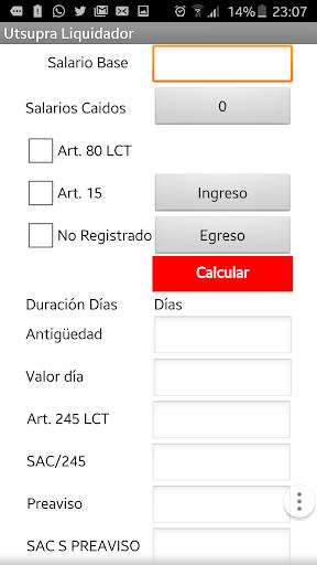 Liquidador Laboral Utsupra.com 1.0 screenshots 2