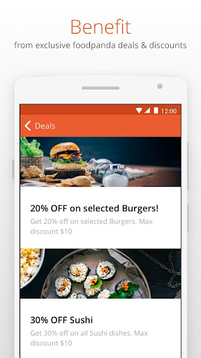 foodpanda - Food Delivery app (apk) free download for Android/PC/Windows screenshot