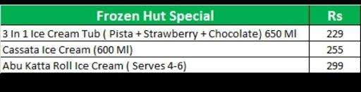 Frozen Hut menu 4