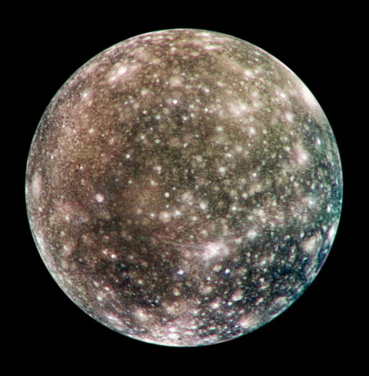 Jupiter's outermost moon, Callisto